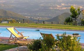 Photo of one of the qonderful swimming pools in Morrano Property | italyrealproperty.com